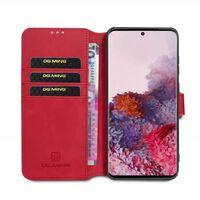 DG-Ming mobilplånbok 3-kort Samsung Galaxy S20 (SM-G980F) Röd