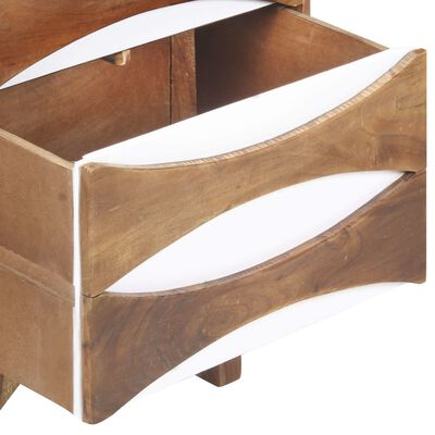 vidaXL Byrå 44x35x90 cm massivt akaciaträ