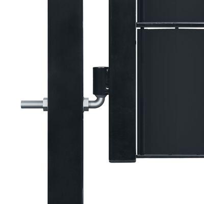 vidaXL Grind stål 100x204 cm antracit