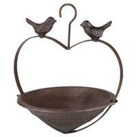 HI Fågelmatare hjärtformad 22 cm brun