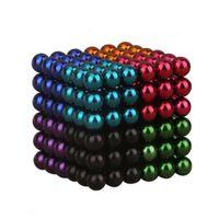 Magnetiska bollar att bygga och lära med - Färgade
