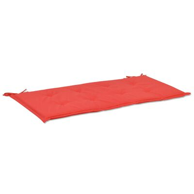 vidaXL Bänkdyna för trädgården 180x50x3 cm röd