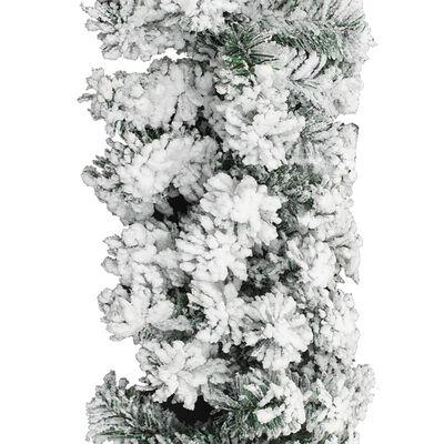 vidaXL Julgirlang med snö grön 20 m PVC
