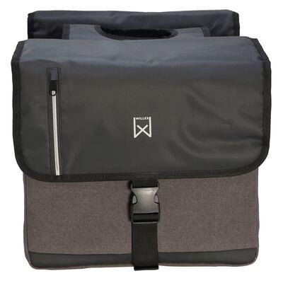 Willex Dubbel affärsväska 30 L svart och grå