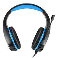 Gaming headset passar 3.5 mm standarduttag - Svart/blå