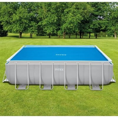 Intex Poolöverdrag solenergi rektangulärt 488x244 cm