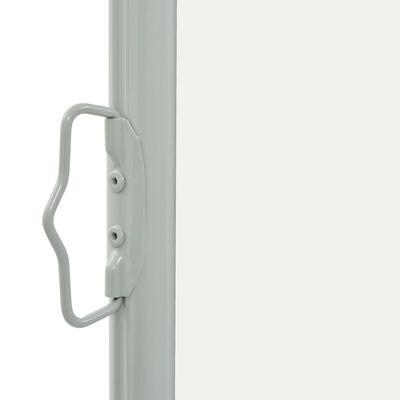 vidaXL Infällbar sidomarkis 60x300 cm gräddvit