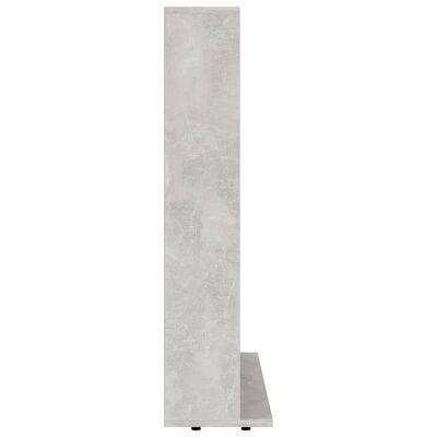 vidaXL CD-hylla betonggrå 102x23x89,5 cm spånskiva