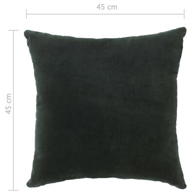 vidaXL Kuddar 2 st bomullssammet 45x45 cm grön