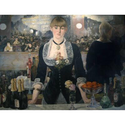 An inclement in the Foils Bergere,Edouard Manet,50x38cm