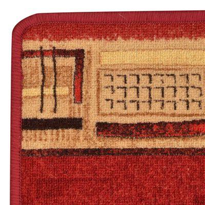 vidaXL Halkfri gångmatta röd 67x150 cm