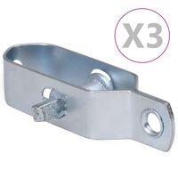 vidaXL Trådspännare 3 st 100 mm stål silver