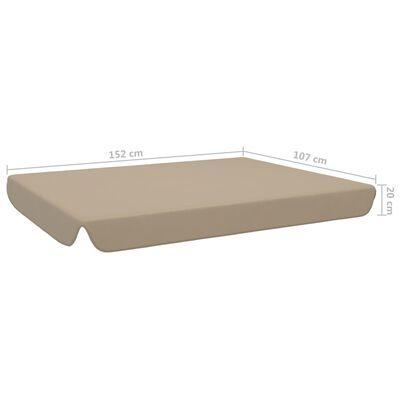 vidaXL Reservtak för hammock taupe 192x147 cm