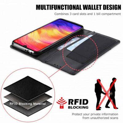 Xiaomi Redmi Note 7 Elegant Fodral i PU-Läder med RFID Block