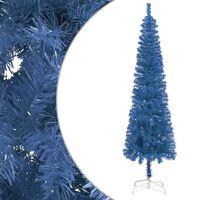 vidaXL Julgran smal blå 210 cm