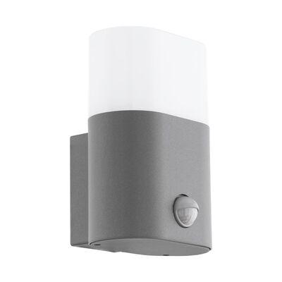 EGLO Utomhusvägglampa LED med sensor Favria 1x11W aluminiun silver