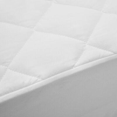 vidaXL Kviltat madrasskydd vit 90x200 cm lätt