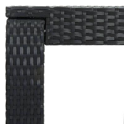 vidaXL Bargrupp för trädgården med dynor 5 delar konstrotting svart