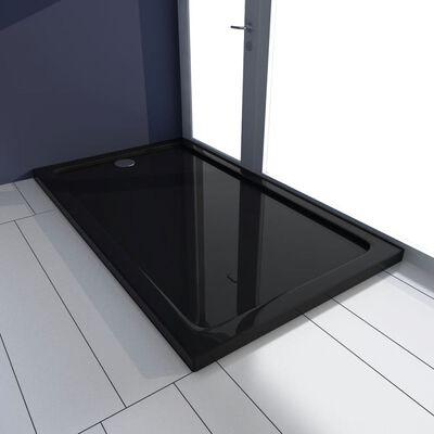 vidaXL Rektangulärt ABS duschkar svart 70 x 120 cm , Svart