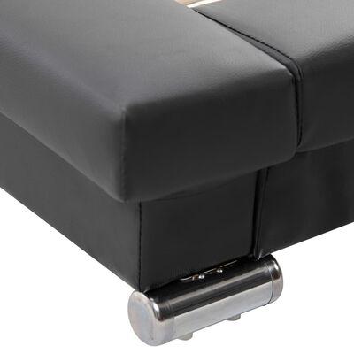 vidaXL Sängram konstläder svart 200x140 cm