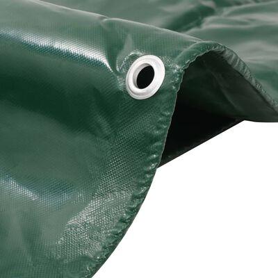 vidaXL Presenning 650 g/m² 4x5 m grön