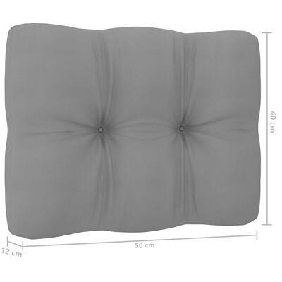 vidaXL Loungegrupp med dynor 11 delar massiv furu