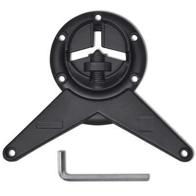 vidaXL Höjdjusterbara bordsben 4 st 1100 mm svart, Black