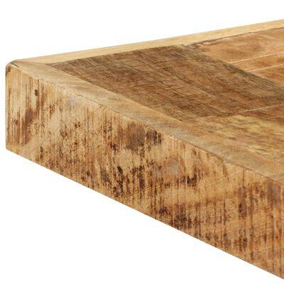 vidaXL Matbord 160x80x75 cm massivt grovt mangoträ