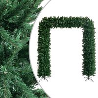 vidaXL Julgirlang grön 240 cm