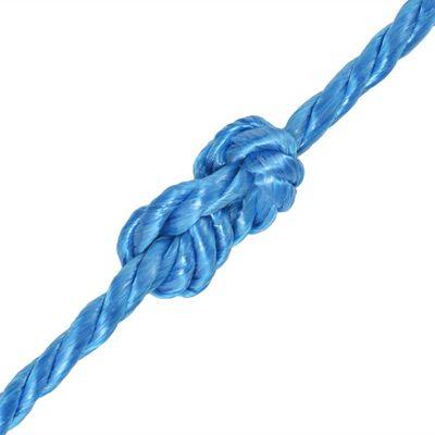vidaXL Tvinnat rep i polypropylen 12 mm 500 m blå