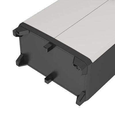 Keter Lågt förvaringsskåp Gear svart och grå 97 cm