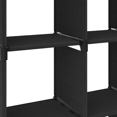 vidaXL Hylla med 9 kuber svart 103x30x107,5 cm tyg, Svart