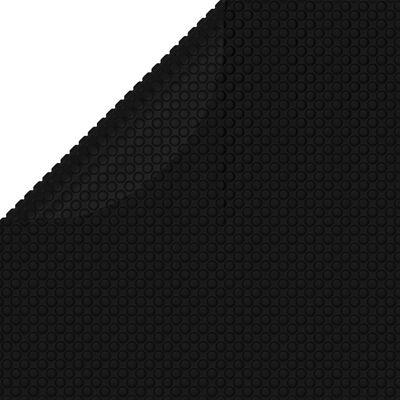 vidaXL Poolskydd svart 549 cm PE