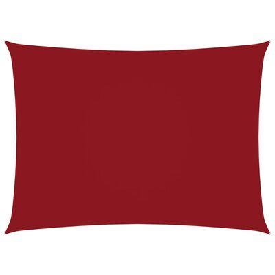 vidaXL Solsegel oxfordtyg rektangulärt 2x4 m röd