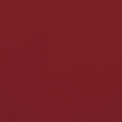 vidaXL Solsegel oxfordtyg fyrkantigt 4x4 m röd