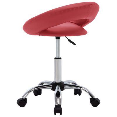 vidaXL Snurrbar stol vinröd konstläder