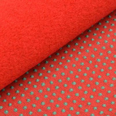 vidaXL Konstgräs med halkskydd 3x1,33 m röd