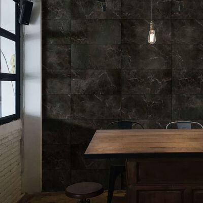 Grosfillex Väggplattor Gx Wall+ 11 st marmor 30x60cm svart