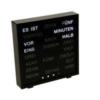 United Entertainment LED Ordklocka tyska 16,5x17 cm