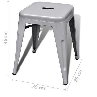 vidaXL Stapelbara pallar 6 st grå stål