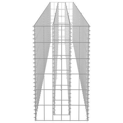 vidaXL Planteringsgabion upphöjd galvaniserat stål 270x30x60 cm