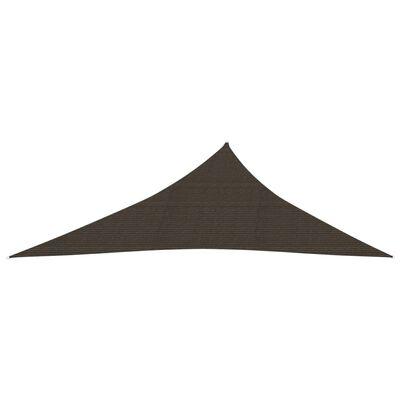 vidaXL Solsegel 160 g/m² brun 4x5x6,8 m HDPE