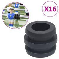 vidaXL Gummifjäder för fotbollsbord med 15,9/16 mm stavar 16 st
