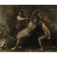 The Martyrdom of St.Bartholomew,Francisco Camilo,60x50cm