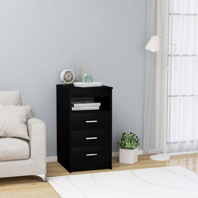 vidaXL Byrå svart 40x50x76 cm spånskiva