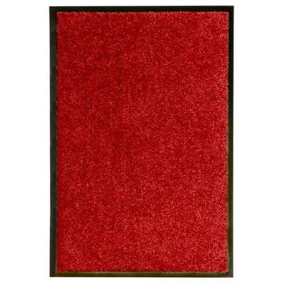 vidaXL Dörrmatta tvättbar röd 40x60 cm