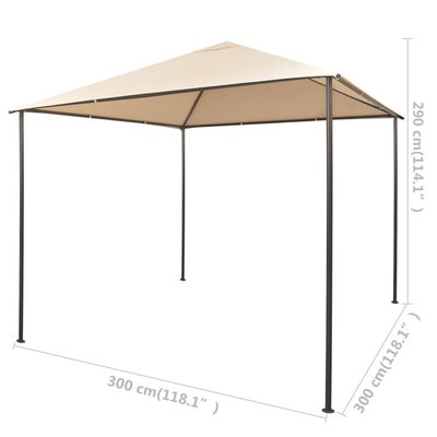 vidaXL Paviljong 3x3 m stål beige