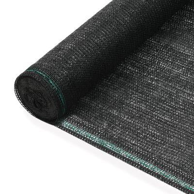 vidaXL Vindskydd för tennisplan HDPE 1,4x100 m svart