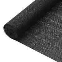 vidaXL Insynsskyddsnät svart 3,6x25 m HDPE 195 g/m²