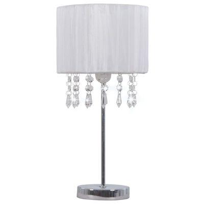 vidaXL Skrivbordslampa vit rund E27